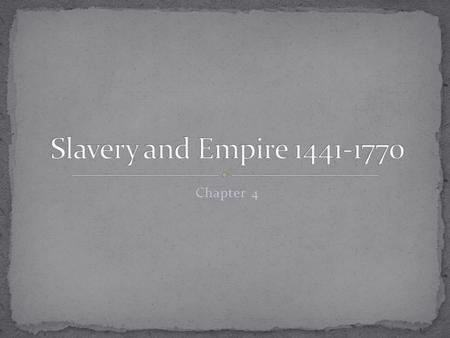 An economic perspective of the start and spread of slavery of africans in history