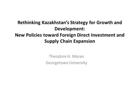 foreign direct investment and regional development The development of a multiple regression model to identify statistically significant   this paper examines five potential determinants of fdi in 30 regions.