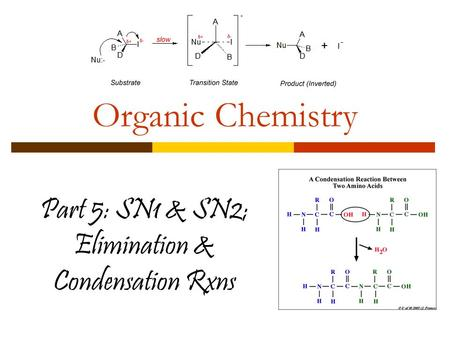 Part 5: SN1 & SN2; Elimination & Condensation Rxns