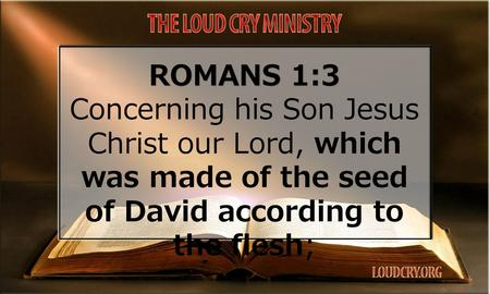 ROMANS 1:3 Concerning his Son Jesus Christ our Lord, which was made of the seed of David according to the flesh;