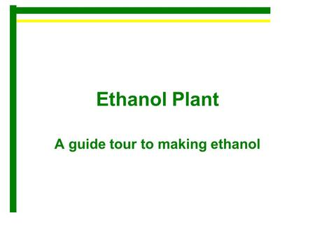 how to make ethanol for fuel