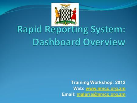 Training Workshop: 2012 Web: