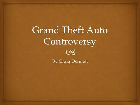 By Craig Dennett.   Grand Theft Auto is a multi-award-winning video game series created in the United Kingdom by Dave Jones. The series is set in fictional.