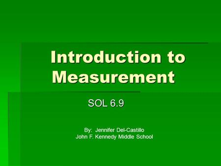 Introduction to Measurement