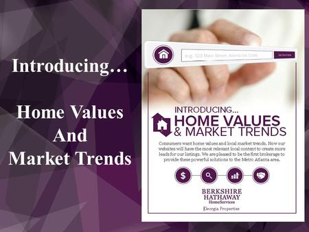 Introducing… Home Values And Market Trends. What has Zillow Proven?