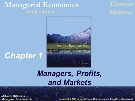managerial economics thomas maurice applied problems Managerial economics chapter 8 9 appliedproblems - term - dec 01, 2012 read this essay on managerial economics chapter 8 & 9 applied problems  (thomas & maurice, managerial economics managerial economics.