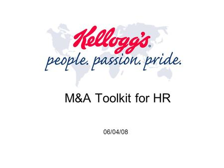 M&A Toolkit for HR 06/04/08.
