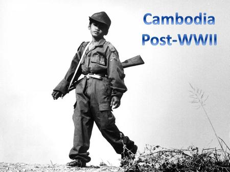 The French ruled Cambodia from 1864, after King Norodom signed a treaty making Cambodia a protectorate of France Cambodia formed a part of French Indochina,