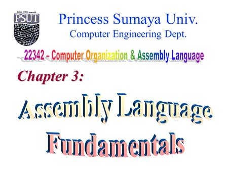 Princess Sumaya Univ. Computer Engineering Dept. Chapter 3: