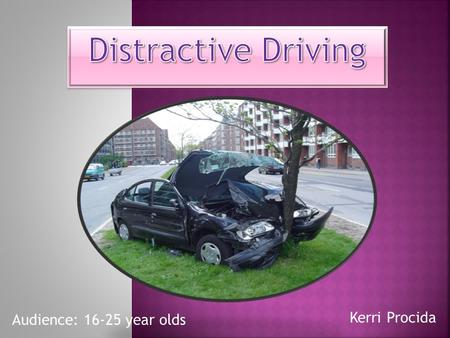Kerri Procida Audience: 16-25 year olds. .. There are more than 1,700 fatalities and 840,000 injuries yearly due to vehicle crashes off public highways.