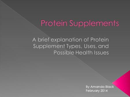 By Amanda Black February 2014.  Protein is on of the three macronutrients your body needs for energy. It works with carbs and fats to fuel you body.