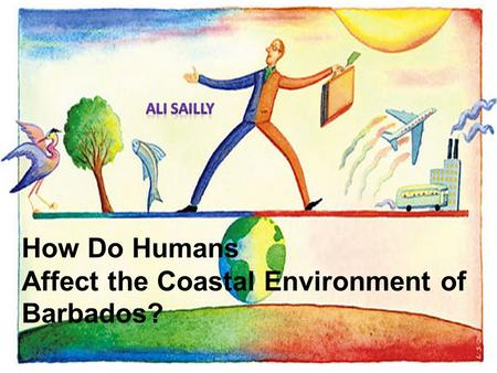 How Do Humans Affect the Coastal Environment of Barbados?