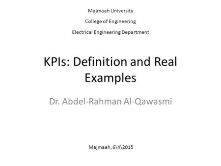 KPIs: Definition and Real Examples