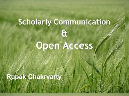 Scholarly communication is an umbrella term used to describe the process of academics, scholars and researchers sharing and publishing their research.