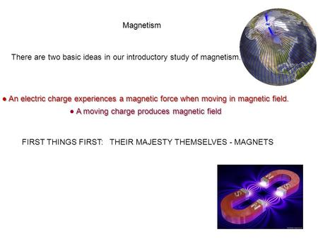 ● A moving charge produces magnetic field
