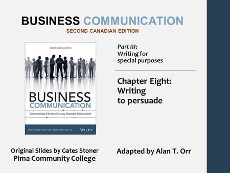 BUSINESS COMMUNICATION SECOND CANADIAN EDITION