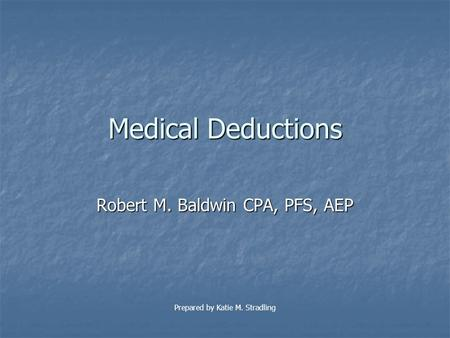 Chapter 5 Itemized Deductions & Other Incentives Income Tax