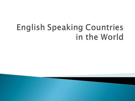 English Speaking Countries in the World