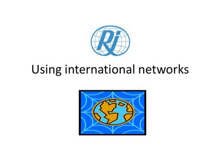 Using international networks. Who is Rehabilitation International – RI?
