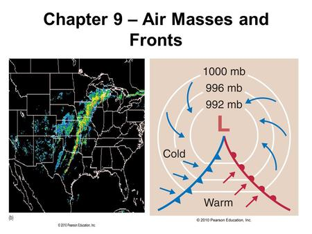 Chapter 9 – Air Masses and Fronts. Theme of Chapter 9: Air Masses are Important! Air mass – a large region of air (thousands of square miles) having similar.