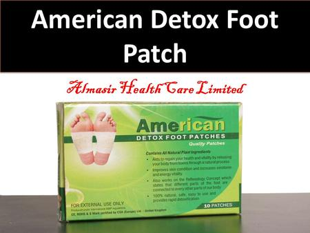 American Detox Foot Patch Almasir Health Care Limited