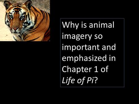 Why is animal imagery so important and emphasized in Chapter 1 of Life of Pi?