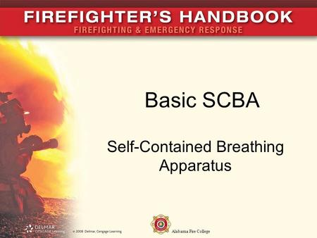 Alabama Fire College Basic SCBA Self-Contained Breathing Apparatus.