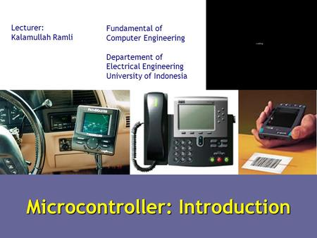 Microcontroller: Introduction