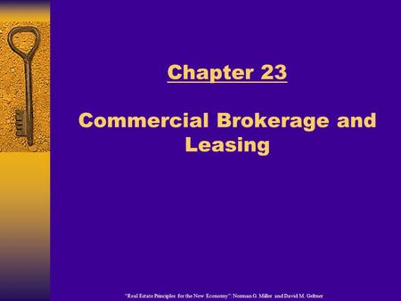 Chapter 23 Commercial Brokerage and Leasing