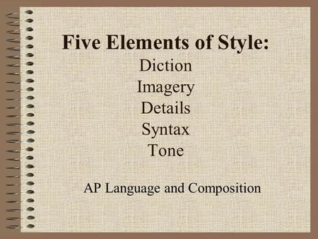 elements of essay tone This page provides definitions and examples of the elements of art and principles  of design that are used by artists working in various mediums.