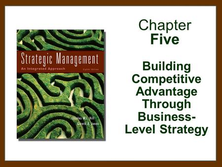 Chapter Five Building Competitive Advantage Through Business- Level Strategy.