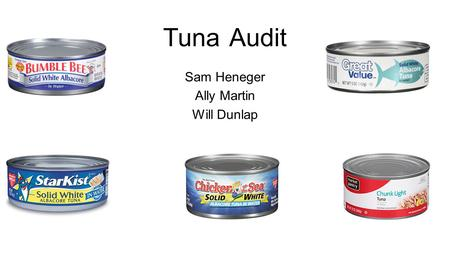 Tuna Audit Sam Heneger Ally Martin Will Dunlap. Flagship Sales Dollar Volume HighMediumLow Core Traffic Cash Machine Under Fire Maintain Rehab Gross Margin.