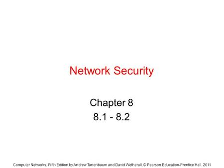 Network Security Chapter
