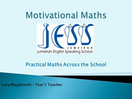 Practical Maths Across the School