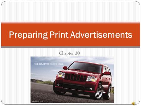 Preparing Print Advertisements