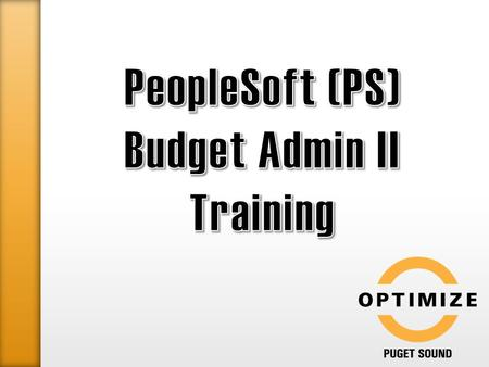o How to code non-purchase order (non-PO) requests for payment from PeopleSoft: ● Required and Optional accounting information to supply ● Non-PO Forms.
