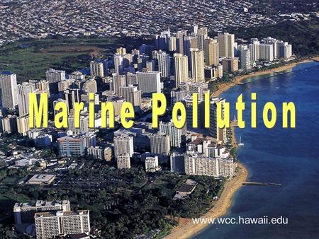 Www.wcc.hawaii.edu. Pollution is harmful material not native to the environment that is present in large quantity Pollutants cause damage to organisms.