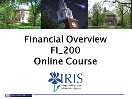 Financial Overview FI_200 Online Course