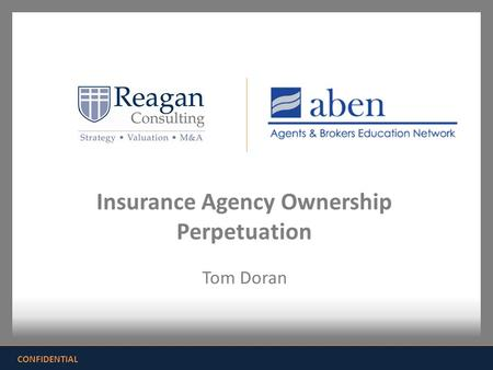 Insurance Agency Ownership Perpetuation