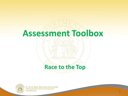 Race to the Top Assessment Toolbox 1. RT3 Assessment Initiatives Purpose – To support teachers in preparing the students for the Common Core Assessment.