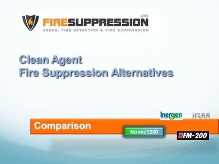 Clean Agent Fire Suppression Alternatives