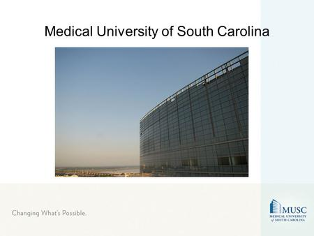 Medical University of South Carolina. Founded in 1824, MUSC holds distinction as oldest medical institution in southern United States. Originally founded.