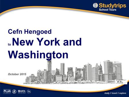 Cefn Hengoed to New York and Washington October 2015.