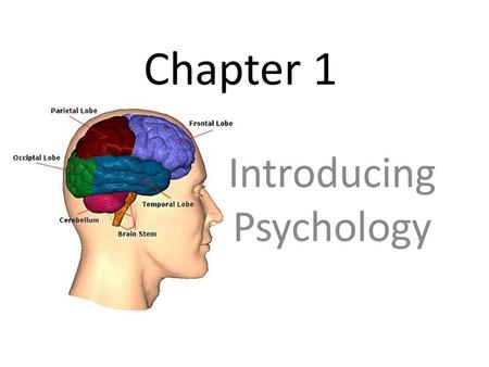 Chapter 1 Introducing Psychology. Why Study Psychology Physiological (physical) – Having to do with an organism's physical processes. example – sleep.