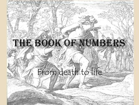 From death to life 1.The HISTORICAL SETTING of the book of Numbers 1. Where is Israel as the book opens? -- Israel is still at the foot of Mt Sinai 2.