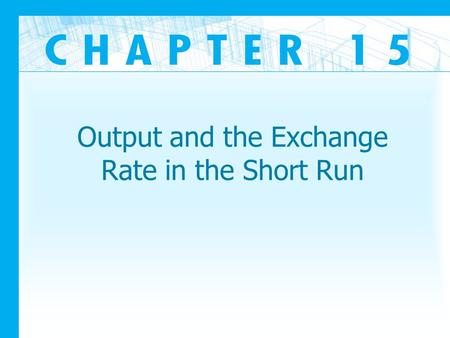 Output and the Exchange Rate in the Short Run. Introduction How can we analyze the short run of an open economy? What are the impacts on a country's imports.