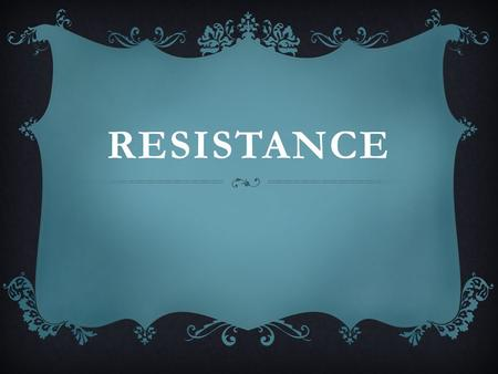 RESISTANCE. The resistance of a conductor is the ratio of the potential difference across it to the current flowing through it.