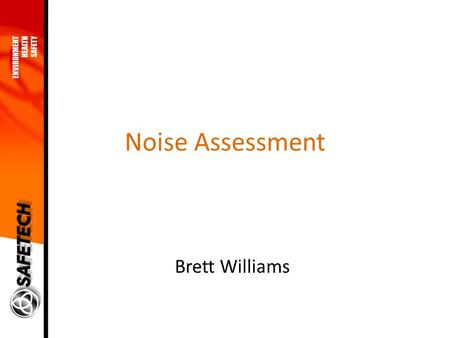 Noise Assessment Brett Williams. Scope The measurement of the existing ambient noise (day and night time). A noise study of the future impact during construction.