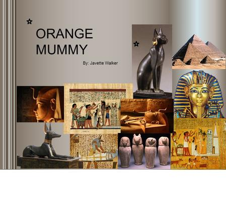 By: Javette Walker ORANGE MUMMY Most people associate Ancient Egypt with the pharaohs, pyramids of Giza, and mummies. But what is the connection between.