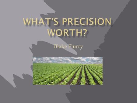 WHAT'S PRECISION WORTH?